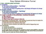 easy debate affirmative format1