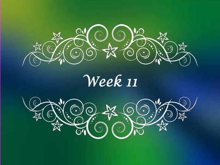 Week 8