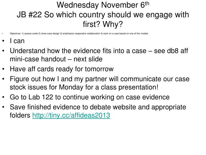 Wednesday November 6