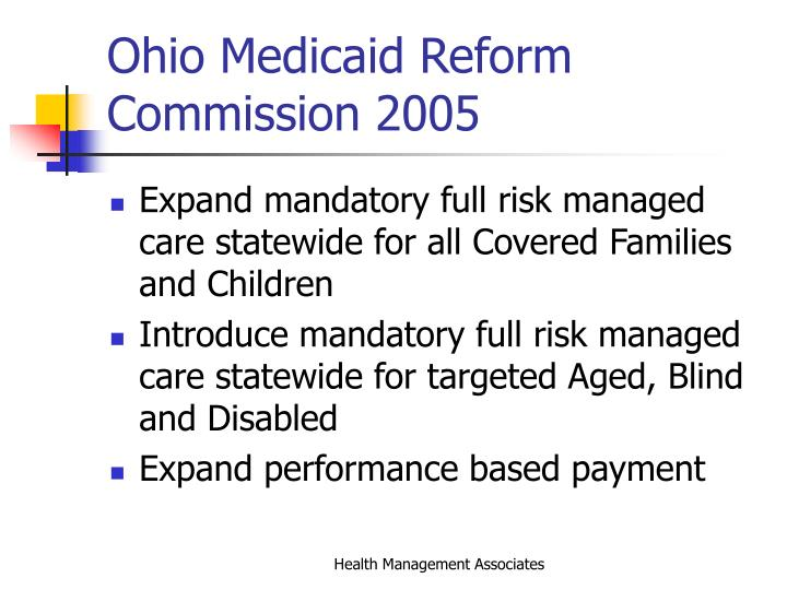 Ohio medicaid reform commission 2005