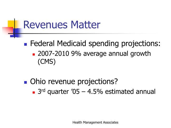 Revenues Matter