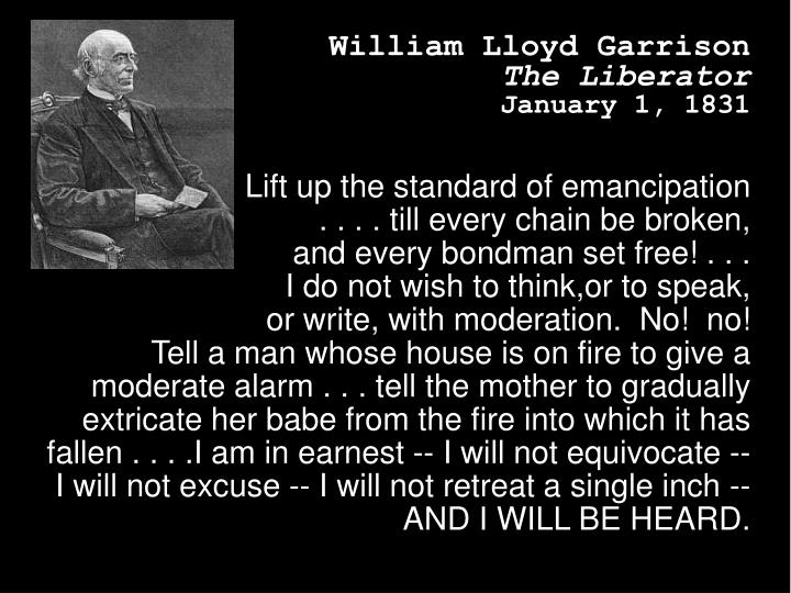 Lift up the standard of emancipation