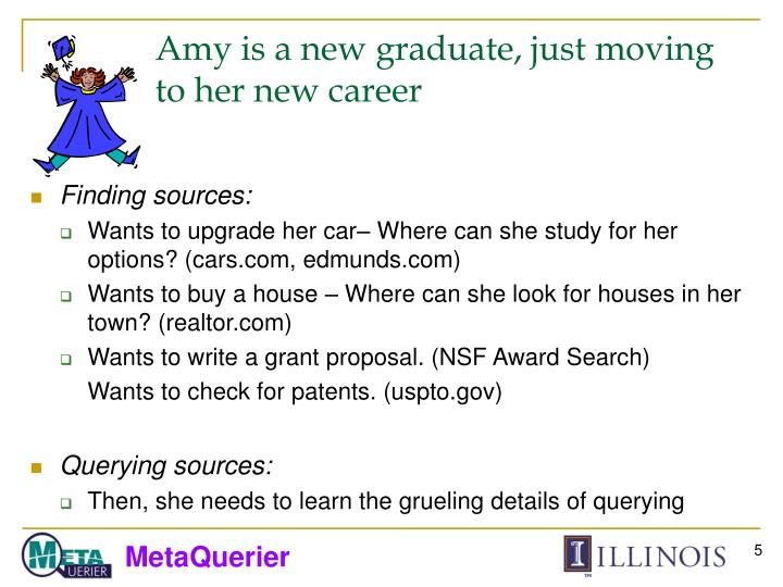 Amy is a new graduate, just moving to her new career