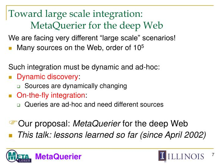 Toward large scale integration: