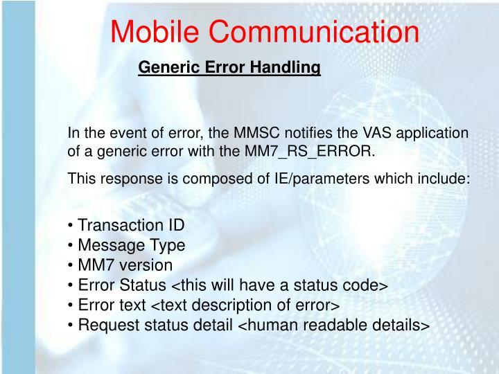 Generic Error Handling