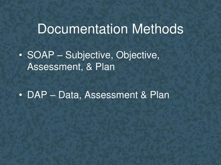 Documentation Methods
