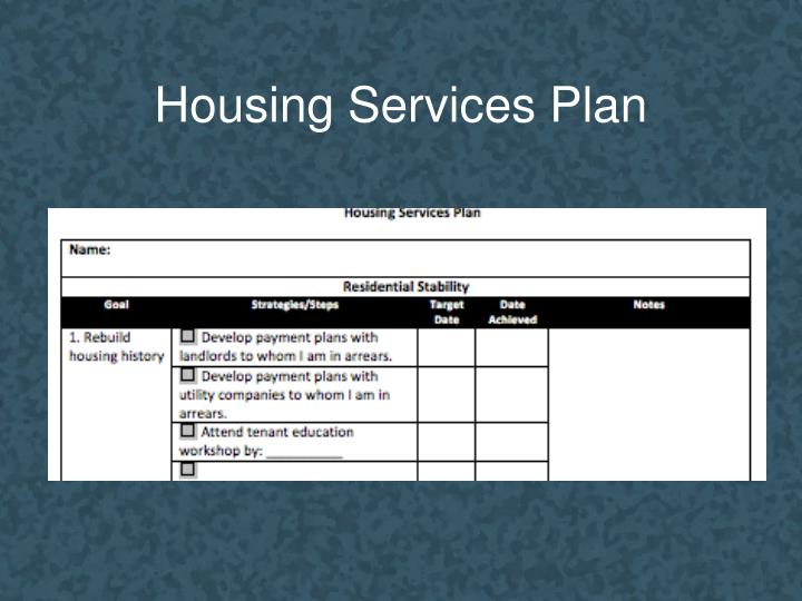 Housing Services Plan