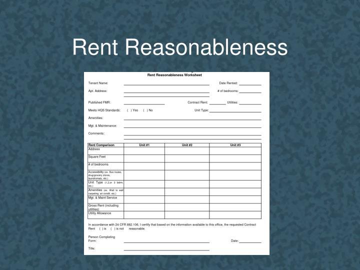 Rent Reasonableness