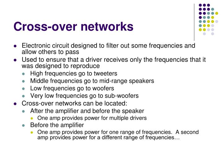 Cross-over networks