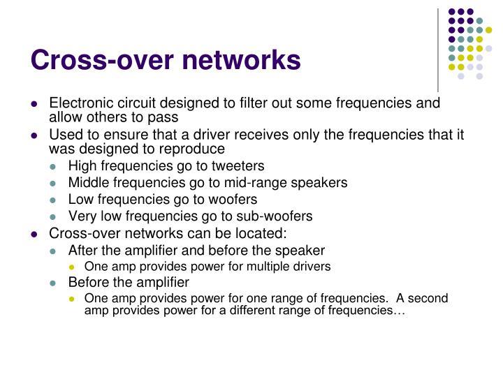 Cross-over networks