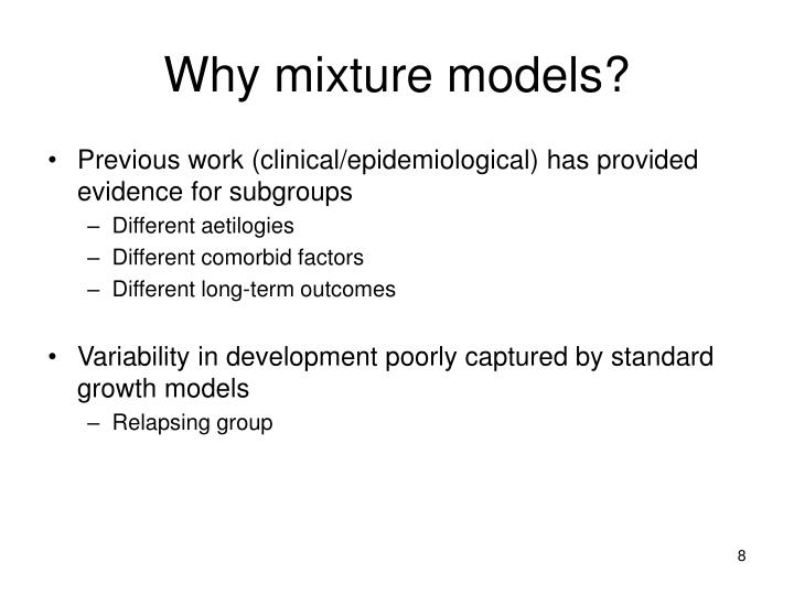 Why mixture models?