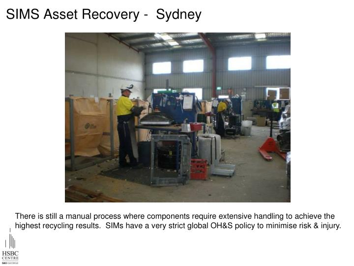 SIMS Asset Recovery -  Sydney