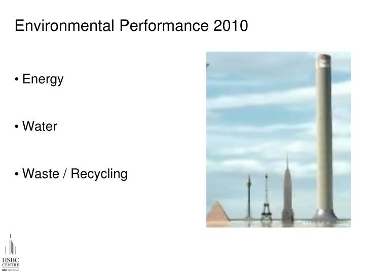 Environmental Performance 2010