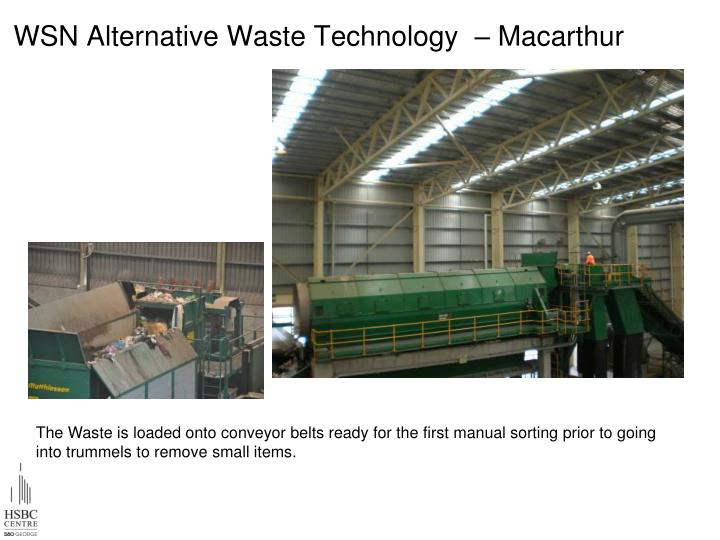 WSN Alternative Waste Technology  – Macarthur