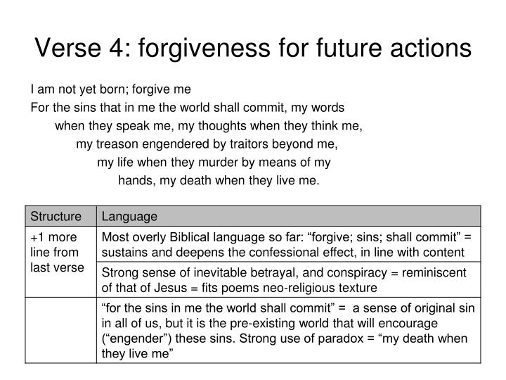Verse 4: forgiveness for future actions