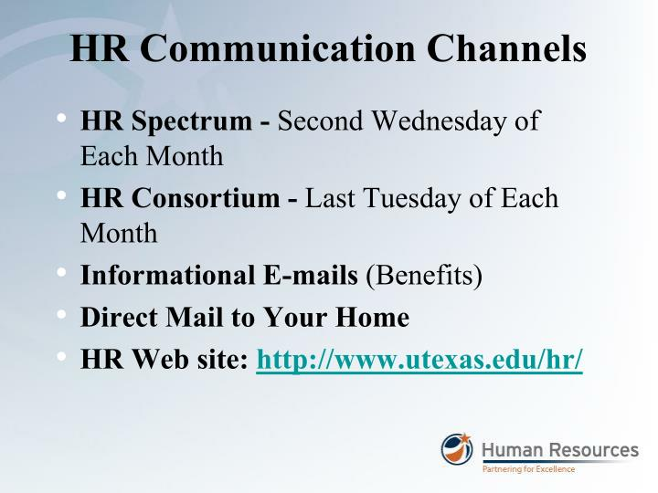 Hr communication channels
