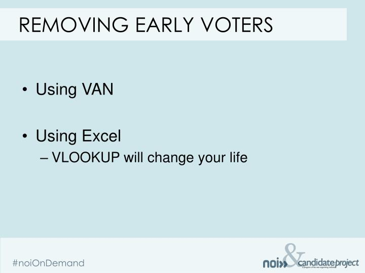 Removing early voters
