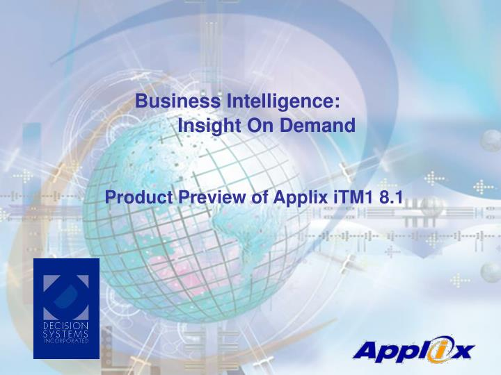 product preview of applix itm1 8 1