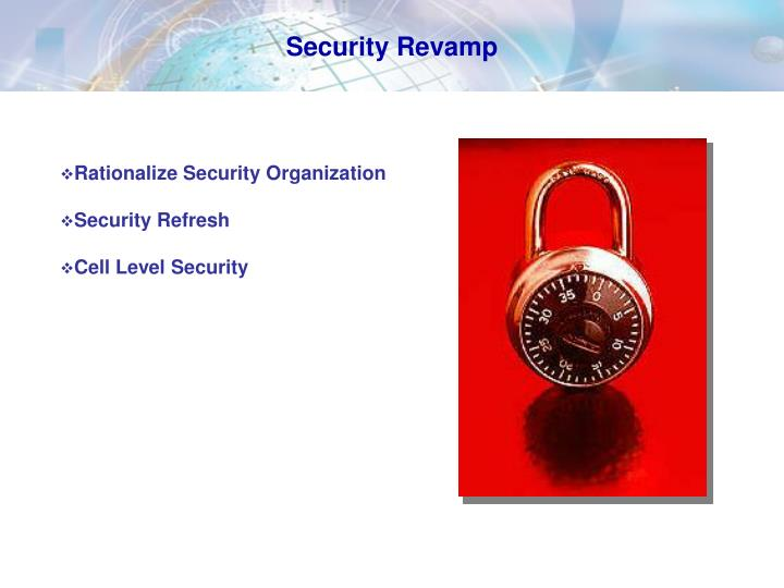 Security Revamp