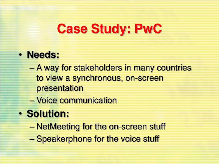 Case Study: PwC