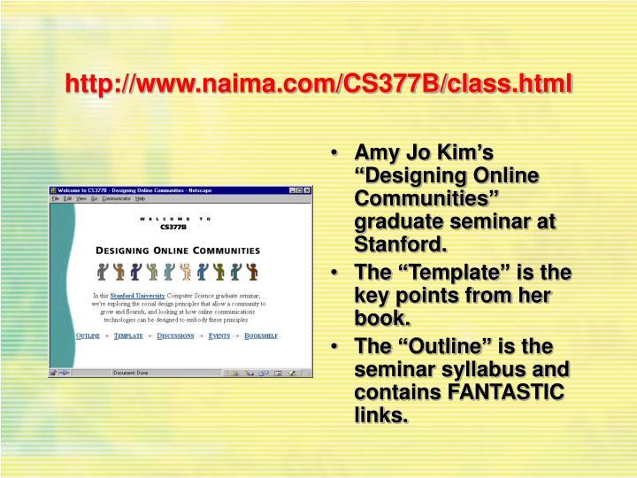 http://www.naima.com/CS377B/class.html