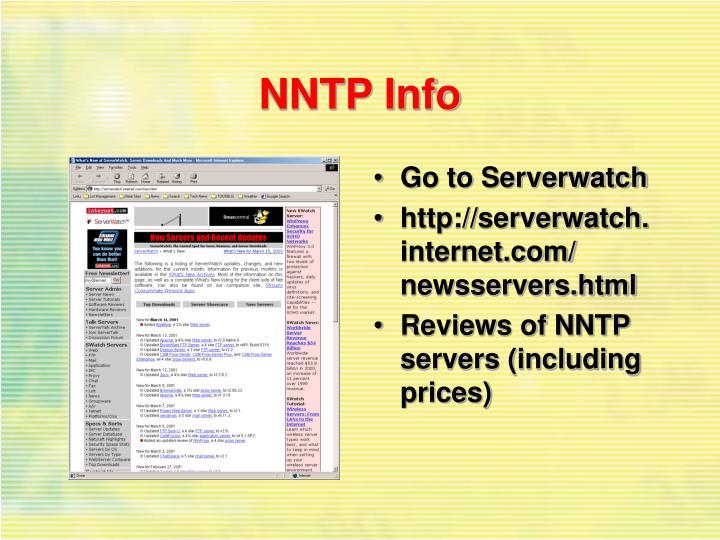 NNTP Info