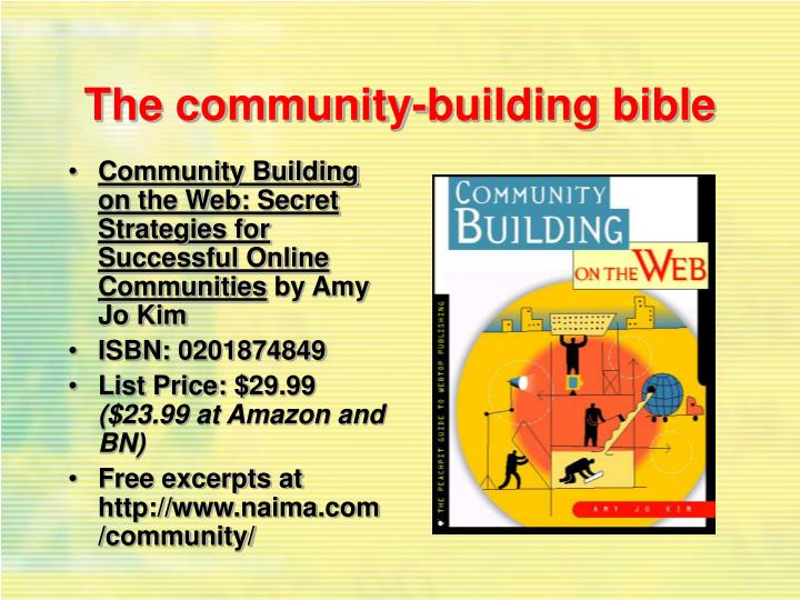 The community-building bible