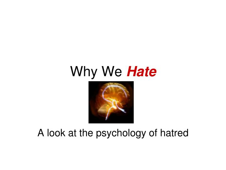 Why We