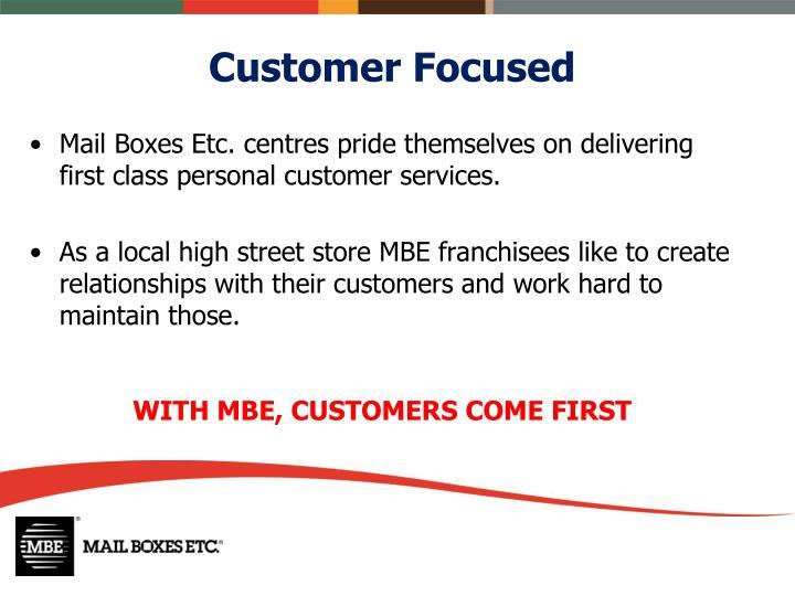 Customer Focused