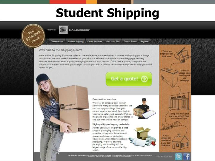 Student Shipping