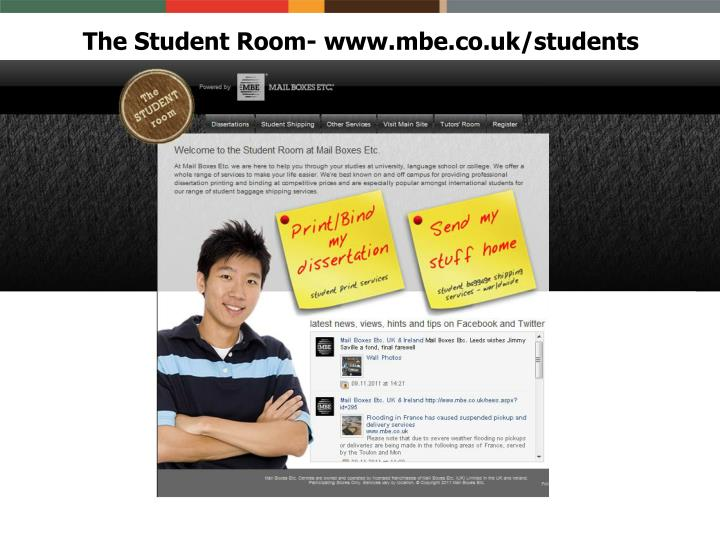 The Student Room- www.mbe.co.uk/students
