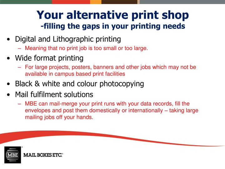 Your alternative print shop