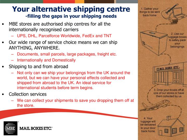Your alternative shipping centre