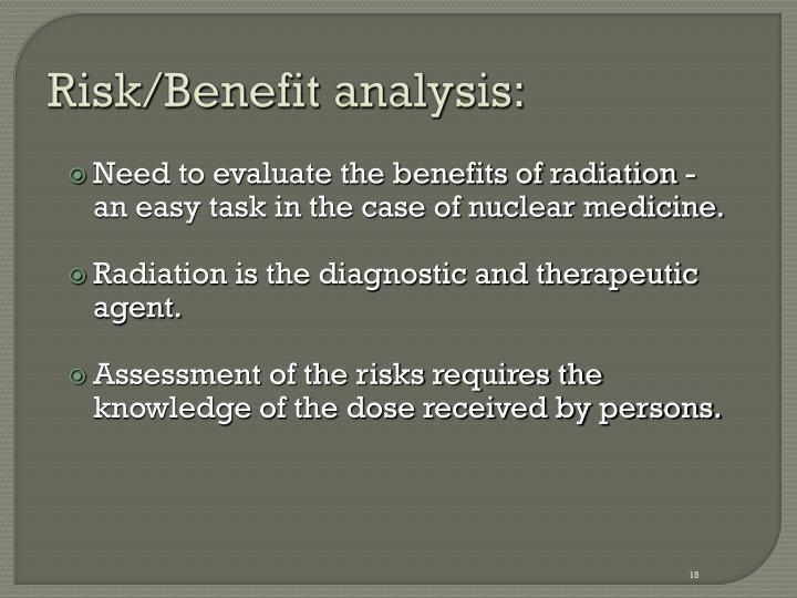 Risk/Benefit analysis: