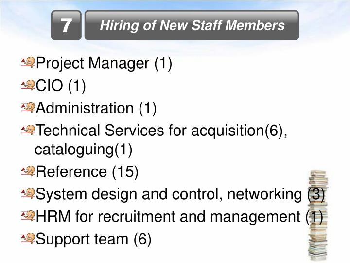Hiring of New Staff Members