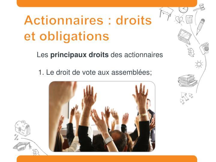 Actionnaires : droits