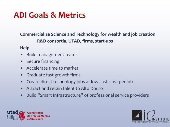 ADI Goals & Metrics