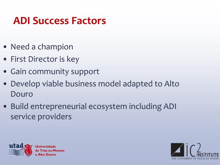 ADI Success Factors