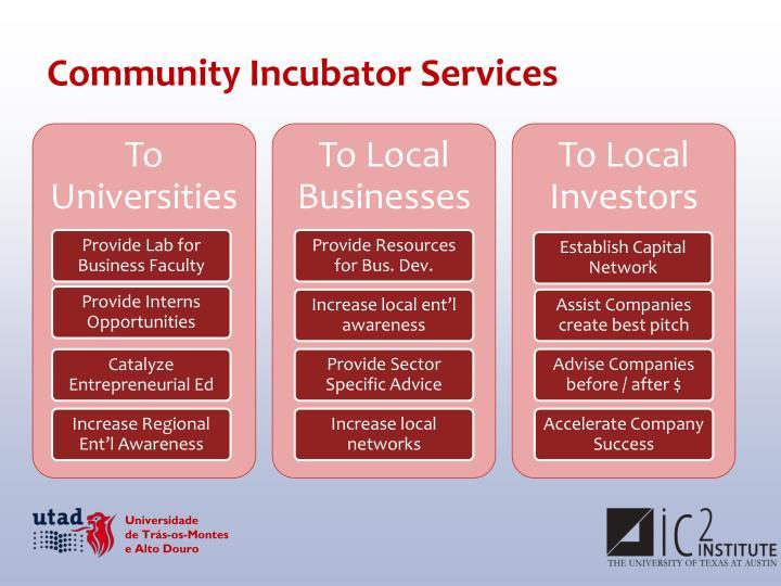 Community Incubator Services