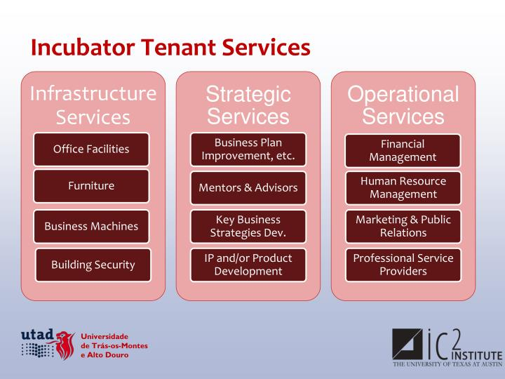 Incubator Tenant Services