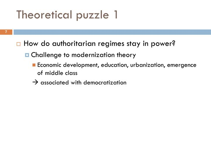 Theoretical puzzle 1