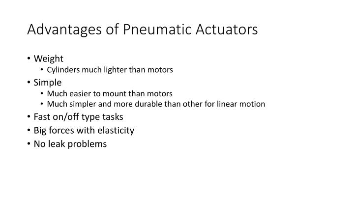 Advantages of Pneumatic Actuators