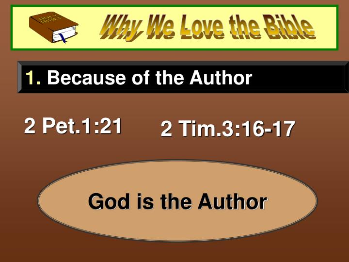 Why We Love the Bible