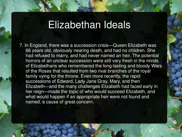 Elizabethan Ideals