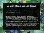 english renaissance ideals