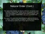 natural order cont