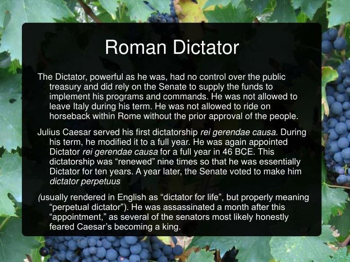 Roman Dictator