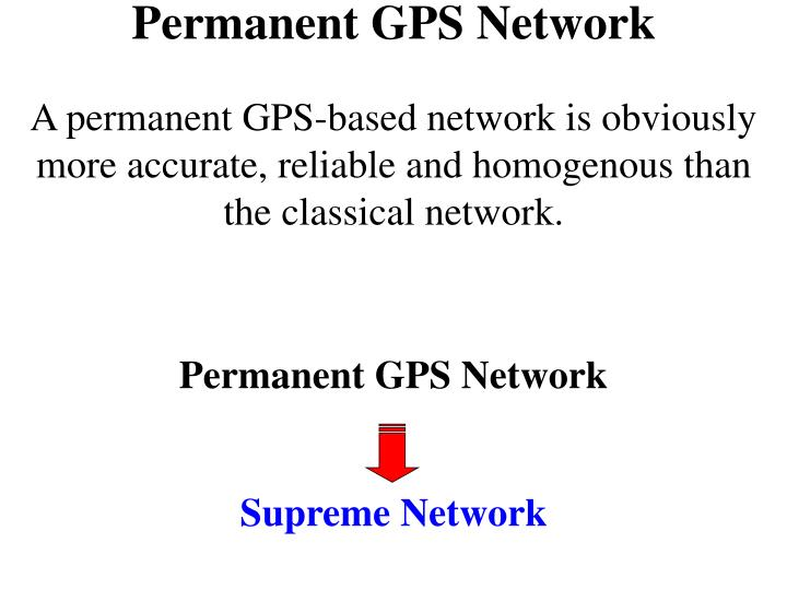 Permanent GPS Network