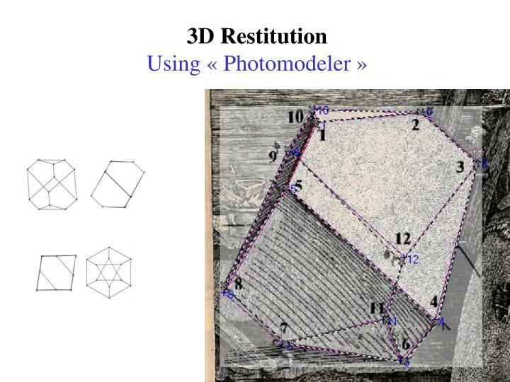 3D Restitution