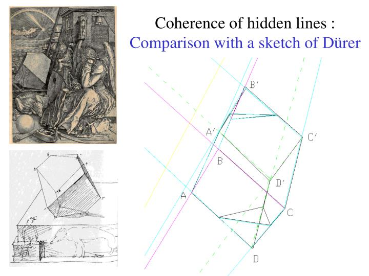 Coherence of hidden lines :
